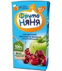 """Сок """"ФрутоНяня"""" - Яблочно-вишневый (от 5 месяцев), осветленный, 200 мл"""