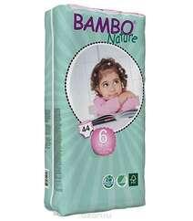 Bambo Nature Подгузники детские одноразовые 16-30 кг (размер 6) 44 шт