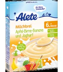 Alete Milchbrei Apfel-Birne-Banane Und Joghurt Ab 6. Monat