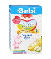 """Молочная каша Bebi Premium """"Пшеница, яблоко, банан"""" (c 6 мес., 250 гр.)"""