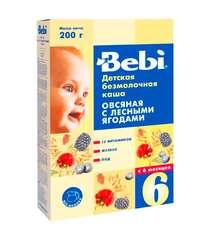 Овсяная каша Bebi с лесными ягодами (с 6 мес., 200 гр.)