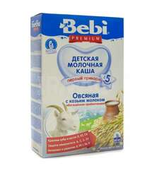 Каша c 5 мес. молочная Bebi Премиум Овсяная с козьим молоком (250 г)