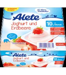 ALETE Joghurtbecher Joghurt und Erdbeere