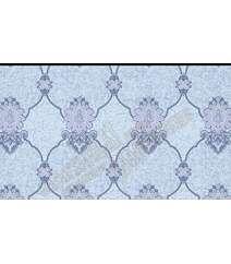 Mavi tonlarda dekorlu divar kağızı