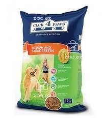 Club 4 paws сухой корм для взрослых собак средних и крупных пород (целый мешок 12 кг)