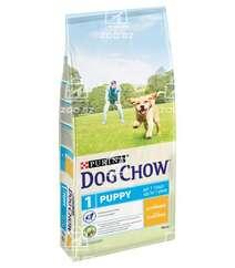 Dog Chow корм для щенков всех пород до 1 года с курицей (целый мешок 14 кг)