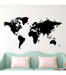 Dünya xəritəsi dekor divar kağızı