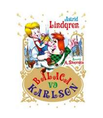 ⦁Astrid Lindqren – Balaca və Karlson (taxta üzlü və rəngli şəkilli)