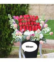33 ədəd roza