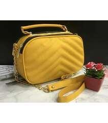 Sarı sadə çanta