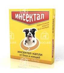 Инсектал капли от блох и клещей для собак от 10 до 20 кг