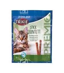 Trixie Stick Quintett лакомство для кошек с мясом птицы и печенью, 5 шт.