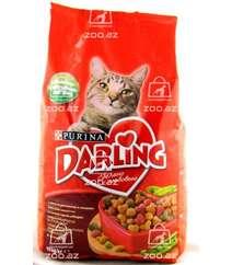 Darling корм сухой для взрослых кошек с мясом по-домашнему и овощами (целый мешок 10 кг)
