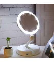 LED işıqla makiyaj üçün stolüstü güzgü