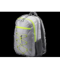 HP Active Backpack (Grey/Neon Yellow) 39.62 cm 15.6-inch (1LU23AA)
