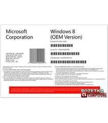 Microsoft Windows 8 Standard 64 bit OE, Русская версия (WN7-00420)