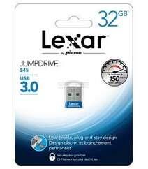 Lexar JumpDrive S45 32GB USB 3.0 Flash Drive - (LJDS45-32GABNL) (Blue)