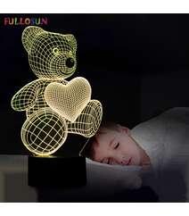 Ayı formalı diod işıqlı 3D gecə lampası