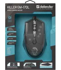 Gaming Mouse Defender Killer GM-170L (7 Button | 3200 DPI)
