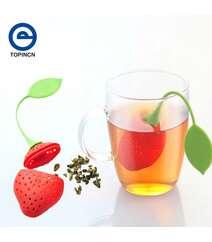 Kreativ silikon fincanda çay dəmləmək üçün çiyələk formalı dəmlik