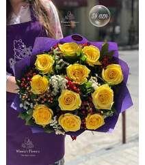 Winnie's Flowers dən sarı qızılgüllər
