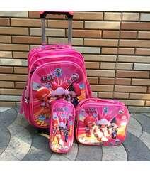 3-lü təkərli məktəbli çantası