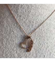 """Sevgilim"" yazılı gümüş boyunbağı"