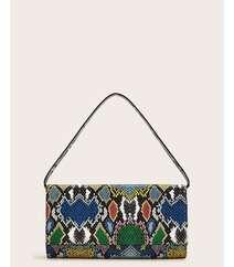Qarışıq rəngli qadın çantası