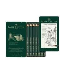 Faber-Castell Kolleksiyası CASTELL 9000 Peşəkar Qara-Qrafit Qələmlər Dəsti
