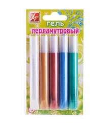Гель Луч с блестками 5 цветов перламутровый 21С 13