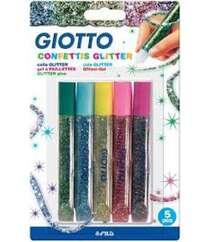 Клей Giotto с блестками 5 цв *10,5 гр 545400