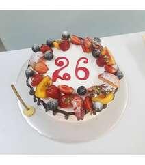 Meyvəli tort 1kq