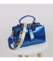 Mavi rəng qadın çantası