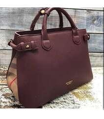 Burberry bordo çanta