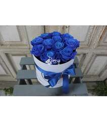 11 BLUE ROSES BOX