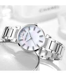Mini focus gümüşü rəng  qol saatı