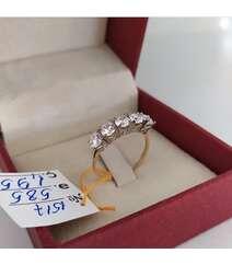5 qaşlı qızıl üzük- 585 əyar