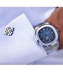 Gümüşü rəng kişi qol saatı