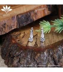 Qaşlı gümüş sırğa - 3.6 qr