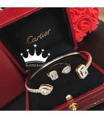 Cartier qolbaq və üzük dəsti