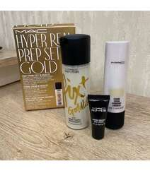 Mac Cosmetics 100 ml fix plus( shimmerli) , 50 ml strobe gold və 6 ml baza