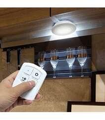 Uzaqdan idarə olunan özünü yapışan batareya işıqlı LED lampa dəsti