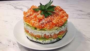 Sushi tort