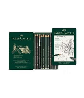Faber Castell Qara-Qrafit Qələm Dəsti PITT Monochrome Graphite 26 Parça