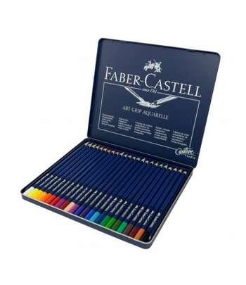 Faber Castell Akvarelli Qələmlər Dəsti 24 Rəng Art GRIP Aquarelle 114224