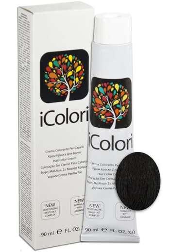"""İcolori professional saç boyası """"Qara"""" - №1 90 ml"""