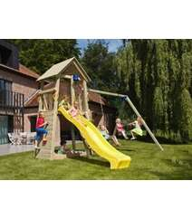 belvedere blue rabbit playtower swing wood duoseat 2